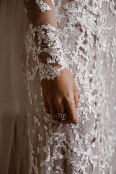 Applique Long Sleeves | Emma Beaumont Wedding Dress Collection | Bridal Gowns | Stylish Wedding Dresses | Agnes Black Photography