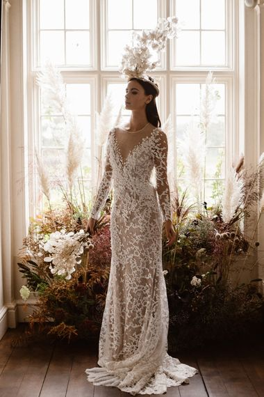 Applique Wedding Dress | Emma Beaumont Wedding Dress Collection | Bridal Gowns | Stylish Wedding Dresses | Agnes Black Photography