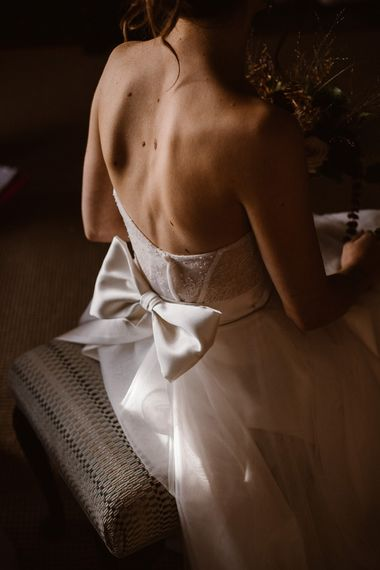 Bow Back Detail Wedding Dress | Emma Beaumont Wedding Dress Collection | Bridal Gowns | Stylish Wedding Dresses | Agnes Black Photography