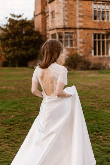 Open Back Lace Wedding Dress | Emma Beaumont Wedding Dress Collection | Bridal Gowns | Stylish Wedding Dresses | Agnes Black Photography
