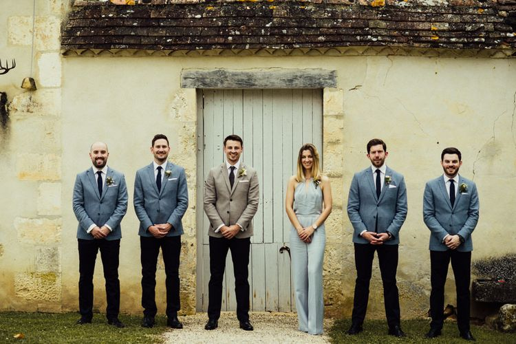 Wedding Party // La Leotardie French Destination Wedding Venue With Accommodation // Halfpenny London Bride // Bridesmaids In Green Dresses // Michelle Wood Photographer
