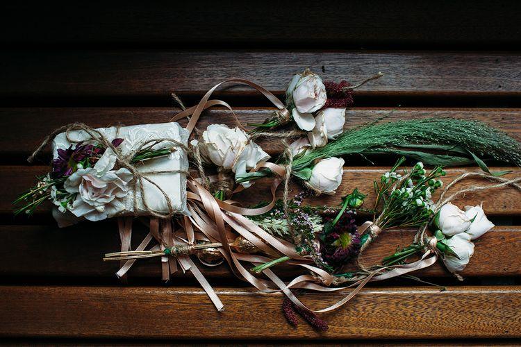 Hand Tied Simplistic Wedding Bouquets