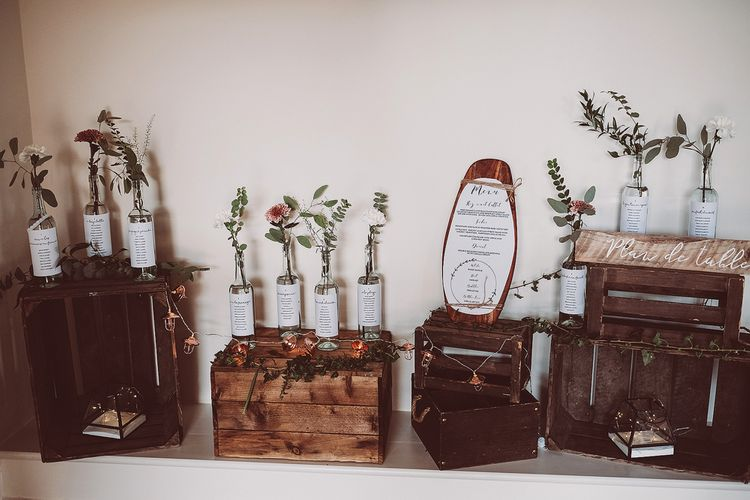 Bottle Table Plan // Brookfield Barn Wedding Venue With Rustic Styling And Bride In Enzoani With Images From Lemonade Pictures And Film By Kitebox Films