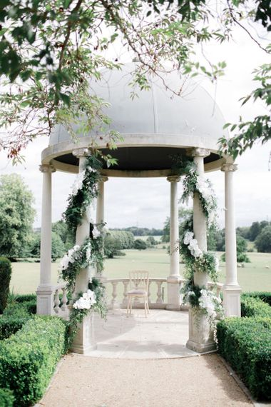 Outdoor ceremony at Froyle Park wedding