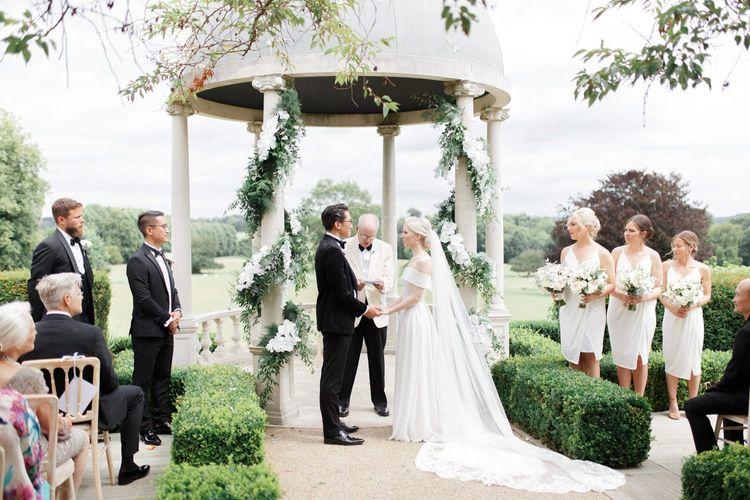 Outdoor Froyle Park wedding ceremony