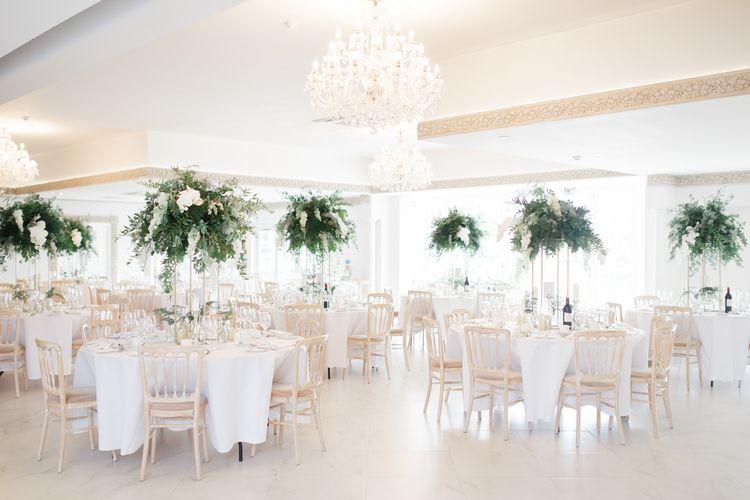 Reception at Froyle Park wedding venue