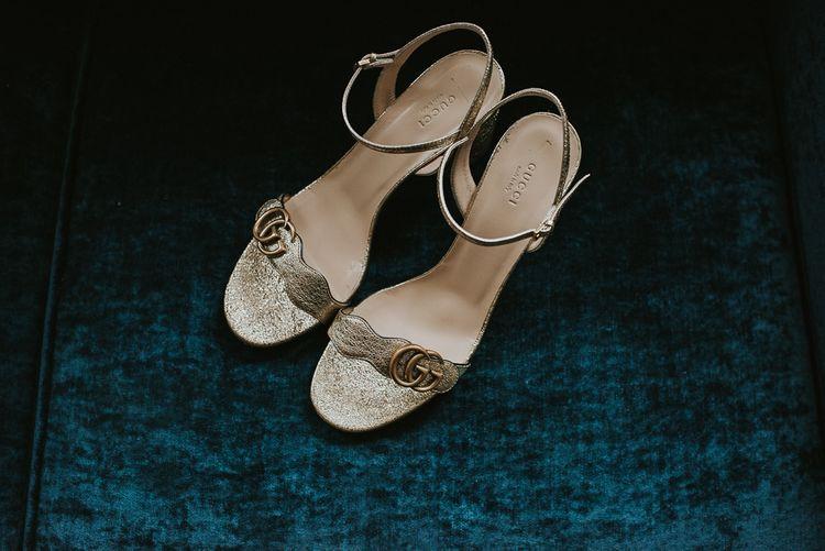 Gucci Marmont – Gold Leaf Bridal Shoes