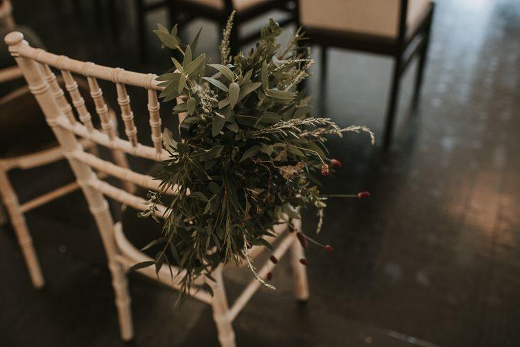 Aisle Chair with Foliage Decor