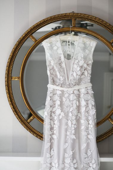 Phase Eight Wedding Dress with floral appliqué detailing