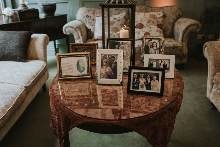 Family Portraits in Ornate Frames