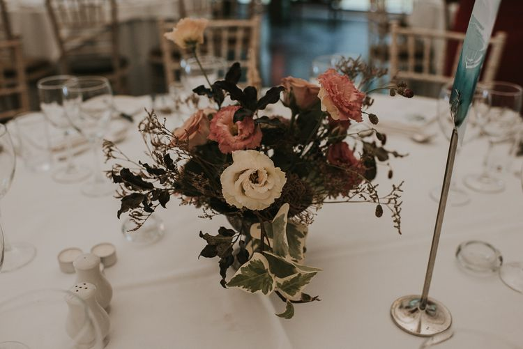 White and Pink Floral Centrepiece