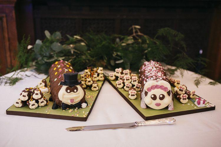 M&S caterpillar cakes at London reception