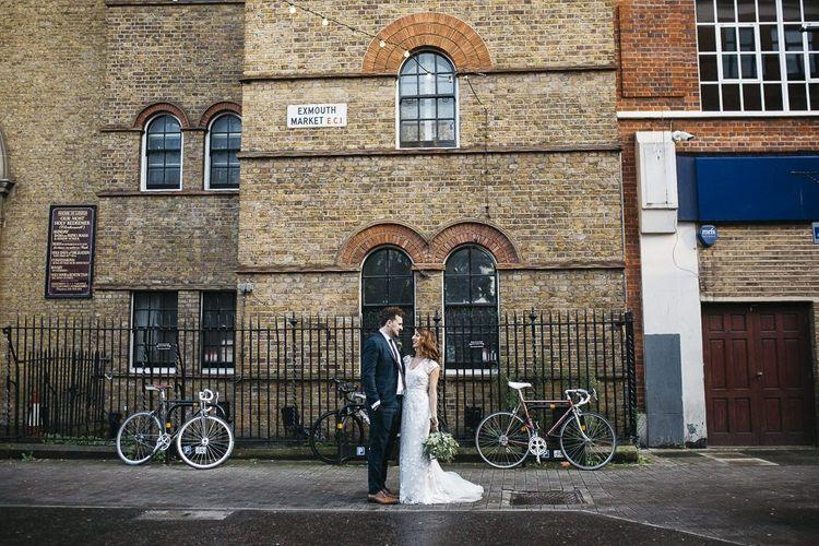 Bride and groom at London wedding
