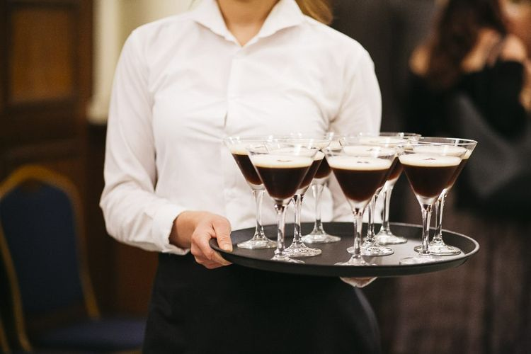 Espresso Martinis as an after dinner treat at London celebration