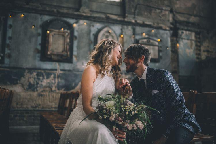 Bride And Groom In Asylum Chapel London