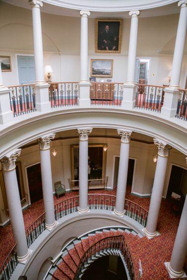 Romantic interiors at Culzean Castle wedding in Scotland