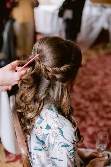Braided bridal hair for Scottish wedding