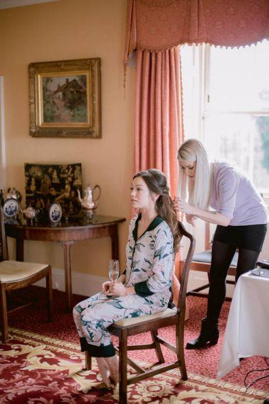 Bridal beauty for Culzean Castle wedding in Scotland