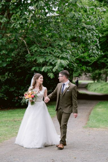 Brother walks bride up the aisle at Culzean Castle wedding in Scotland