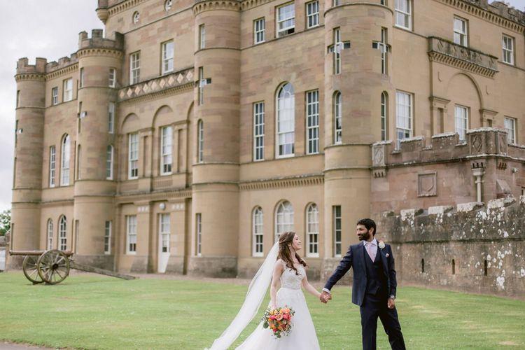 Bride and groom at Culzean Castle wedding in Scotland