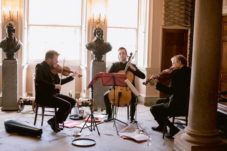 String wedding music during Culzean Castle wedding in Scotland