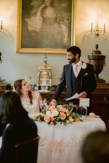 Groom wedding speech at Culzean Castle wedding