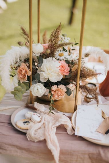 Floral Table Decor and Individual Treats
