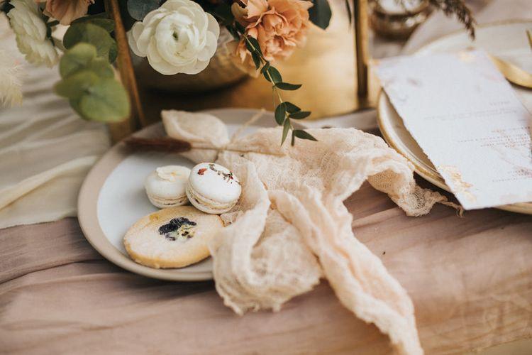 Macaroons and Biscuit Wedding Dessets