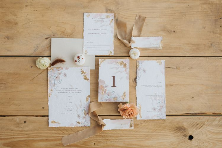 Gray Starling Wedding Stationery Suit