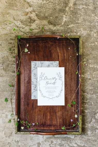 Sincerely May Wedding Stationery | Timeless English Country Garden Inspiration at Boconnoc House and Estate in Cornwall, Styled by On Serpentine Shores | Debs Alexander Photography