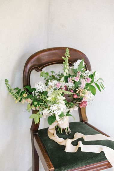 Wedding Bouquet by The Garden Gate Flower Company | Timeless English Country Garden Inspiration at Boconnoc House and Estate in Cornwall, Styled by On Serpentine Shores | Debs Alexander Photography