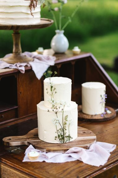 Elegant Peboryon Wedding Cakes | Timeless English Country Garden Inspiration at Boconnoc House and Estate in Cornwall, Styled by On Serpentine Shores | Debs Alexander Photography