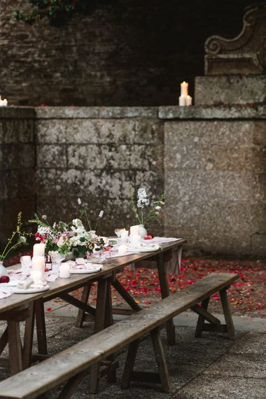 Elegant Tablescape | Timeless English Country Garden Inspiration at Boconnoc House and Estate in Cornwall, Styled by On Serpentine Shores | Debs Alexander Photography