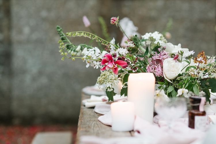 Floral Arrangement | Timeless English Country Garden Inspiration at Boconnoc House and Estate in Cornwall, Styled by On Serpentine Shores | Debs Alexander Photography