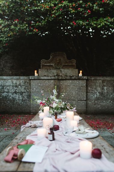 Tablescape | Timeless English Country Garden Inspiration at Boconnoc House and Estate in Cornwall, Styled by On Serpentine Shores | Debs Alexander Photography