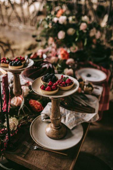 Fruit tarts for golden wedding anniversary