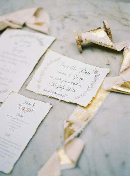 Stationery by Samantha Geen Designs | Fairytale Opulence at Charlton House, Somerset | Fine Art Film Photography by Liz Baker | Luxe Florist Fleur Provocateur.