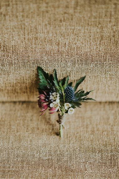 Rustic Buttonhole //  Image by Virginia Photography