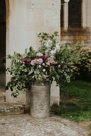 Milk Churn Floral Arrangement // Image By Virginia Photography