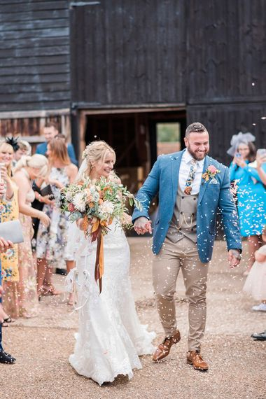 Protea Wedding Bouquet // Macrame Ceremony Backdrop Rustic Hippie Wedding The Great Barn Dream Catchers And Oversized Florals Bride In Essence Of Australia Images Kathryn Hopkins