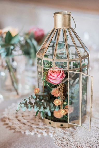 Bird Cage Table Centrepieces For Wedding // Macrame Ceremony Backdrop Rustic Hippie Wedding The Great Barn Dream Catchers And Oversized Florals Bride In Essence Of Australia Images Kathryn Hopkins