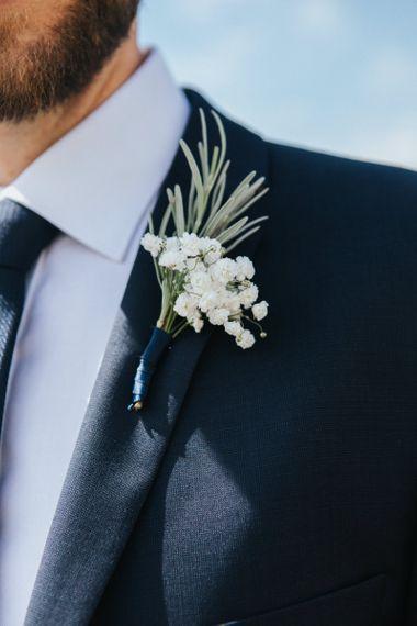 White Flower Buttonhole