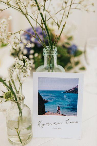 Beach Polaroid Table Name