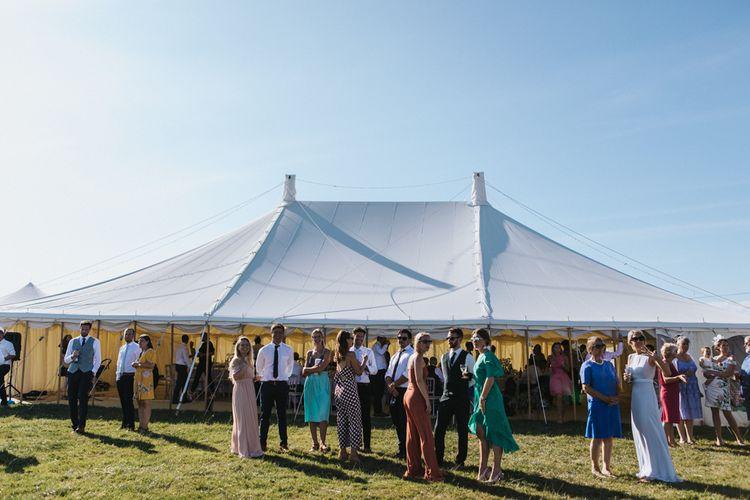 Stretch Tent Wedding Reception at Carswell Weddings in Devon