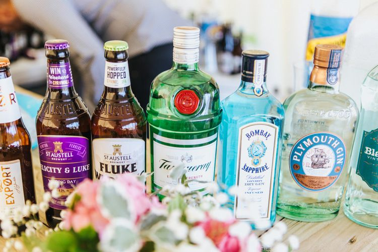 Gin and Beer Bottles