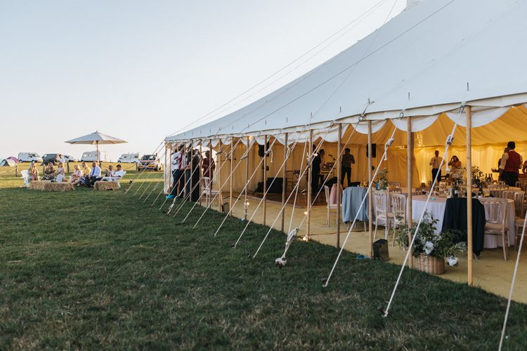 Stretch Tent Marquee Reception with Side Open
