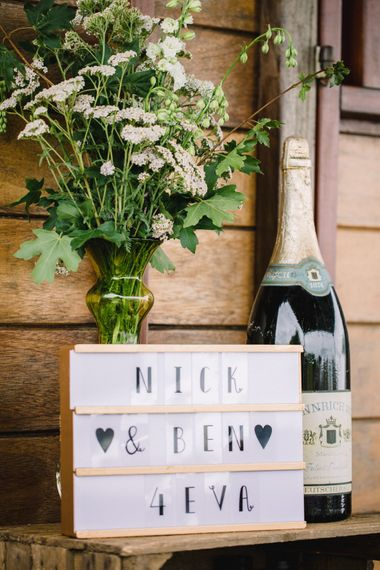 Lightbox Sign For Wedding // Image By Studio TM