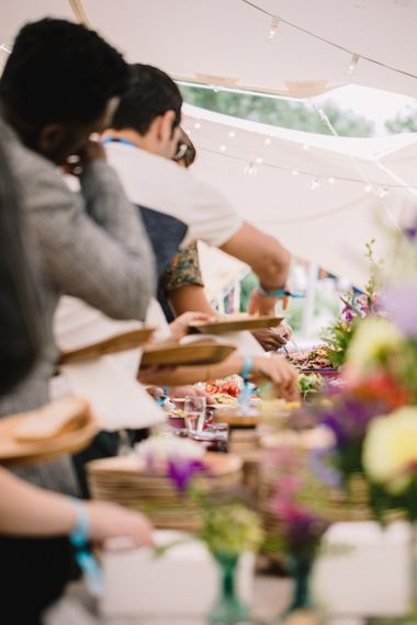 Relaxed Dining For Festival Wedding // Image By Studio TM