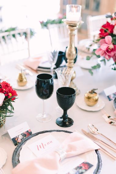 Black Goblet Tableware