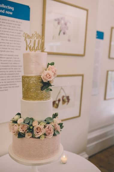 Cake by Rock My Wedding's The List Member Designer Cakes by Elle. A Quintessentially British Venue at Cambridge Cottage, Royal Botanic Gardens Kew. Bride Wears Paloma Blanca from Pure Couture Bridal and Groom Wears Tailored Suit from Hackett London.